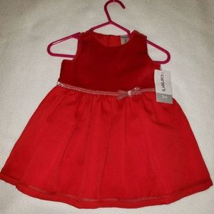 Carter's Red Party Dress size 3 months NWT